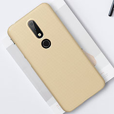 Hard Rigid Plastic Matte Finish Case Back Cover M01 for Nokia 6.1 Plus Gold