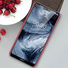 Hard Rigid Plastic Matte Finish Case Back Cover M01 for Nokia 6.1 Plus Red
