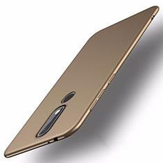 Hard Rigid Plastic Matte Finish Case Back Cover M01 for Nokia X5 Gold