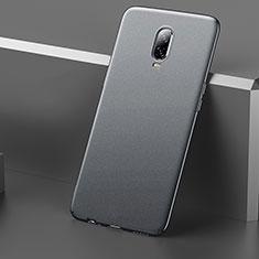 Hard Rigid Plastic Matte Finish Case Back Cover M01 for OnePlus 6T Gray