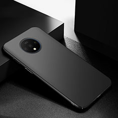 Hard Rigid Plastic Matte Finish Case Back Cover M01 for OnePlus 7T Black