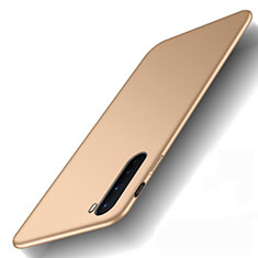 Hard Rigid Plastic Matte Finish Case Back Cover M01 for OnePlus Nord Gold