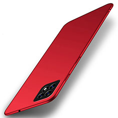Hard Rigid Plastic Matte Finish Case Back Cover M01 for Oppo A72 5G Red