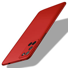 Hard Rigid Plastic Matte Finish Case Back Cover M01 for Oppo A72 Red