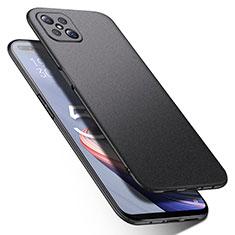 Hard Rigid Plastic Matte Finish Case Back Cover M01 for Oppo Reno4 Z 5G Black