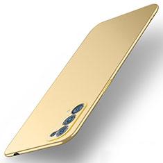 Hard Rigid Plastic Matte Finish Case Back Cover M01 for Oppo Reno5 Pro 5G Gold