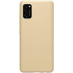 Hard Rigid Plastic Matte Finish Case Back Cover M01 for Samsung Galaxy A41 Gold