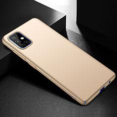 Hard Rigid Plastic Matte Finish Case Back Cover M01 for Samsung Galaxy A51 4G Gold