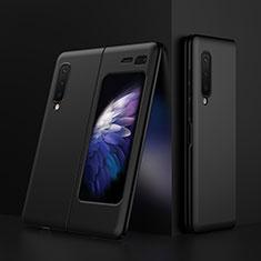 Hard Rigid Plastic Matte Finish Case Back Cover M01 for Samsung Galaxy Fold Black