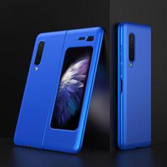 Hard Rigid Plastic Matte Finish Case Back Cover M01 for Samsung Galaxy Fold Blue