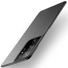 Hard Rigid Plastic Matte Finish Case Back Cover M01 for Samsung Galaxy S21 Ultra 5G Black