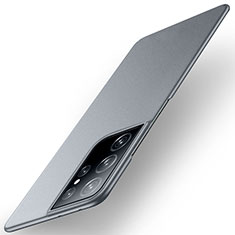 Hard Rigid Plastic Matte Finish Case Back Cover M01 for Samsung Galaxy S21 Ultra 5G Gray