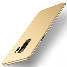 Hard Rigid Plastic Matte Finish Case Back Cover M01 for Samsung Galaxy S9 Plus Gold