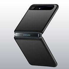Hard Rigid Plastic Matte Finish Case Back Cover M01 for Samsung Galaxy Z Flip 5G Black