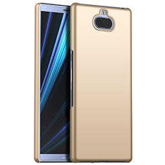 Hard Rigid Plastic Matte Finish Case Back Cover M01 for Sony Xperia 10 Plus Gold