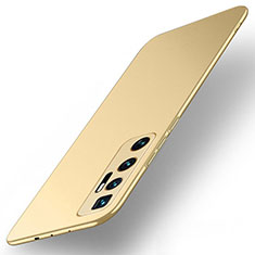 Hard Rigid Plastic Matte Finish Case Back Cover M01 for Xiaomi Mi 10 Ultra Gold