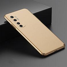 Hard Rigid Plastic Matte Finish Case Back Cover M01 for Xiaomi Mi Note 10 Lite Gold