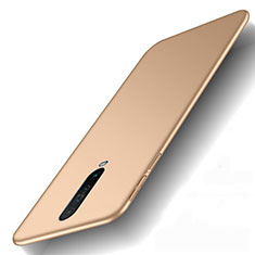 Hard Rigid Plastic Matte Finish Case Back Cover M01 for Xiaomi Redmi K30 5G Gold