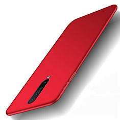 Hard Rigid Plastic Matte Finish Case Back Cover M01 for Xiaomi Redmi K30 5G Red