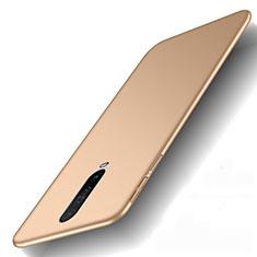 Hard Rigid Plastic Matte Finish Case Back Cover M01 for Xiaomi Redmi K30i 5G Gold