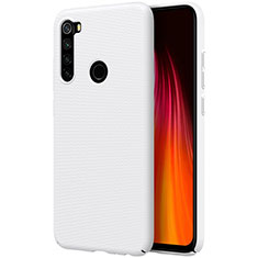 Hard Rigid Plastic Matte Finish Case Back Cover M01 for Xiaomi Redmi Note 8 White