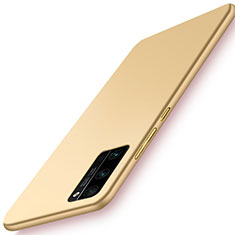 Hard Rigid Plastic Matte Finish Case Back Cover M02 for Huawei Honor 30 Pro Gold