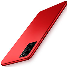 Hard Rigid Plastic Matte Finish Case Back Cover M02 for Huawei Honor 30 Pro Red