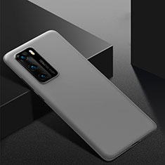 Hard Rigid Plastic Matte Finish Case Back Cover M02 for Huawei P40 Gray