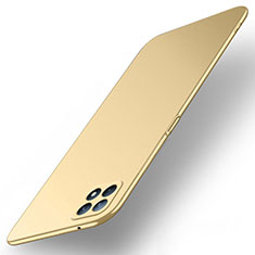 Hard Rigid Plastic Matte Finish Case Back Cover M02 for Oppo Reno4 SE 5G Gold