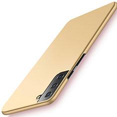 Hard Rigid Plastic Matte Finish Case Back Cover M02 for Samsung Galaxy S21 Plus 5G Gold
