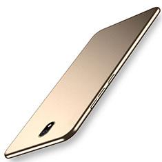 Hard Rigid Plastic Matte Finish Case Back Cover M02 for Xiaomi Redmi 8A Gold