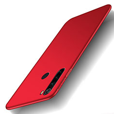 Hard Rigid Plastic Matte Finish Case Back Cover M02 for Xiaomi Redmi Note 8 Red