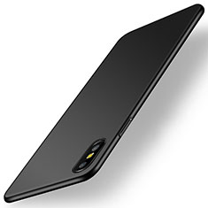 Hard Rigid Plastic Matte Finish Case Back Cover M15 for Apple iPhone X Black