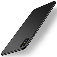 Hard Rigid Plastic Matte Finish Case Back Cover M15 for Apple iPhone Xs Black