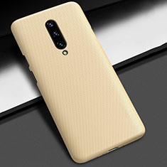 Hard Rigid Plastic Matte Finish Case Back Cover P01 for OnePlus 7 Pro Gold