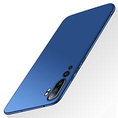 Hard Rigid Plastic Matte Finish Case Back Cover P01 for Xiaomi Mi Note 10 Blue