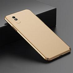 Hard Rigid Plastic Matte Finish Case Back Cover P01 for Xiaomi Redmi 9A Gold