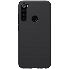 Hard Rigid Plastic Matte Finish Case Back Cover P02 for Xiaomi Redmi Note 8 Black
