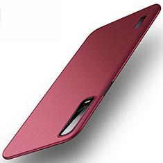 Hard Rigid Plastic Matte Finish Case Back Cover P03 for Oppo Find X2 Pro Red Wine