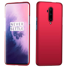 Hard Rigid Plastic Matte Finish Case Back Cover P04 for OnePlus 7T Pro Red