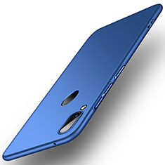 Hard Rigid Plastic Matte Finish Case Back Cover R01 for Huawei Y9 (2019) Blue