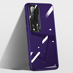 Hard Rigid Plastic Matte Finish Case Back Cover T01 for Xiaomi Mi 10 Pro Purple