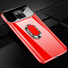 Hard Rigid Plastic Matte Finish Case Cover with Finger Ring Stand A01 for Huawei Mate 20 Pro Red