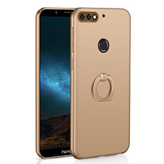 Hard Rigid Plastic Matte Finish Case Cover with Finger Ring Stand A03 for Huawei Enjoy 8 Gold