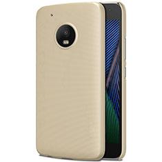 Hard Rigid Plastic Matte Finish Case for Motorola Moto G5 Plus Gold