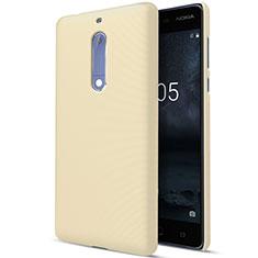 Hard Rigid Plastic Matte Finish Case for Nokia 5 Gold