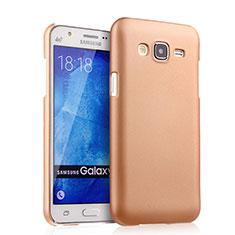 Hard Rigid Plastic Matte Finish Case for Samsung Galaxy J5 SM-J500F Gold