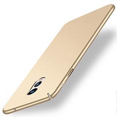 Hard Rigid Plastic Matte Finish Case for Samsung Galaxy J7 Plus Gold