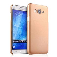 Hard Rigid Plastic Matte Finish Case for Samsung Galaxy J7 SM-J700F J700H Gold