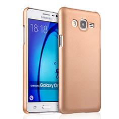 Hard Rigid Plastic Matte Finish Case for Samsung Galaxy On5 Pro Gold